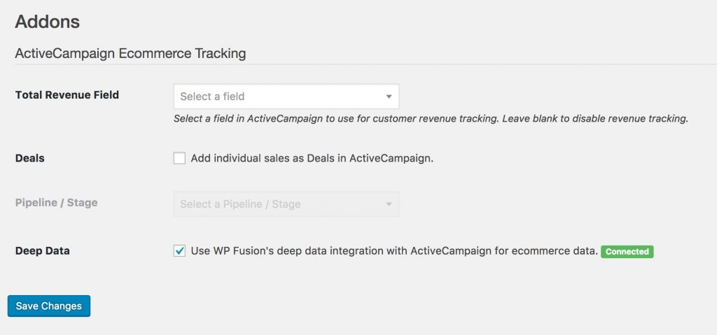 ActiveCampaign Ecommerce Tracking   WP Fusion