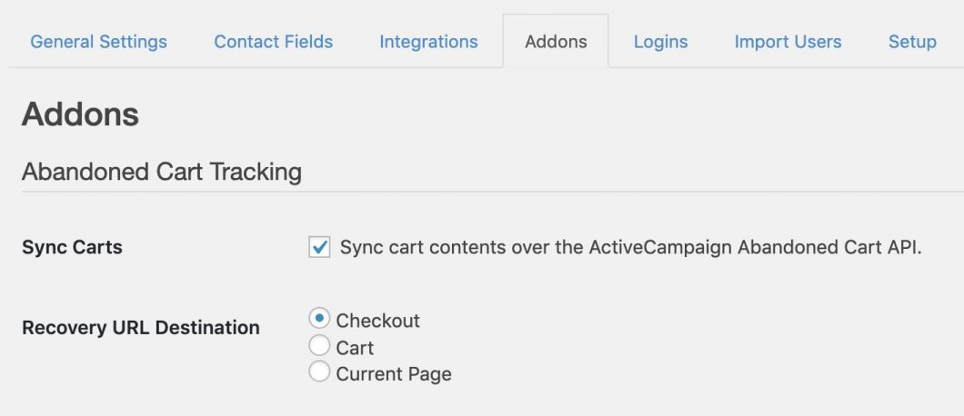 ActiveCampaign Abandoned Cart Tracking | WP Fusion