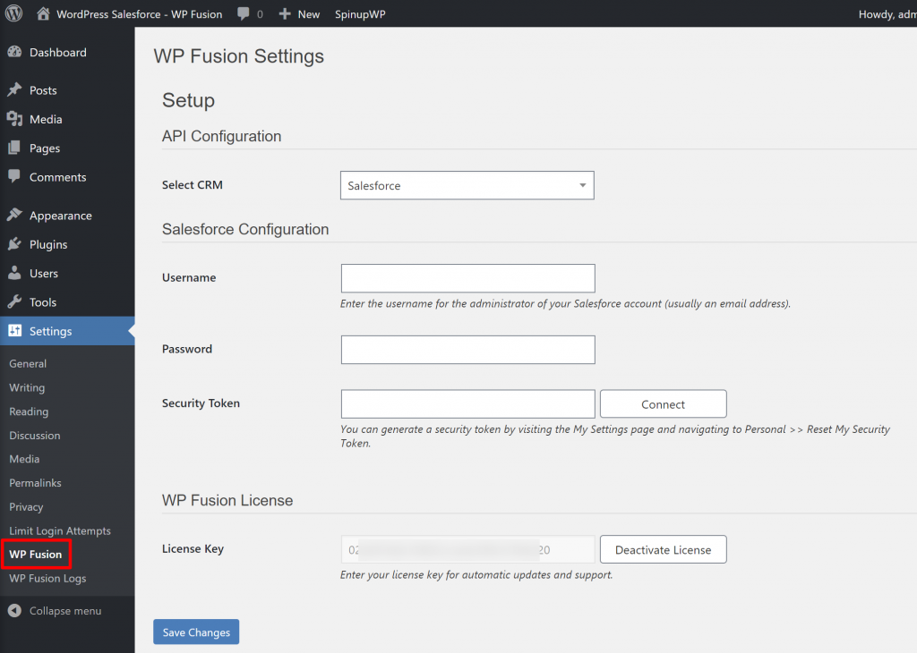 Connect WordPress and WP Fusion to Salesforce